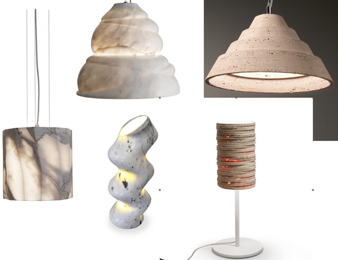 Lampen aus Naturstein