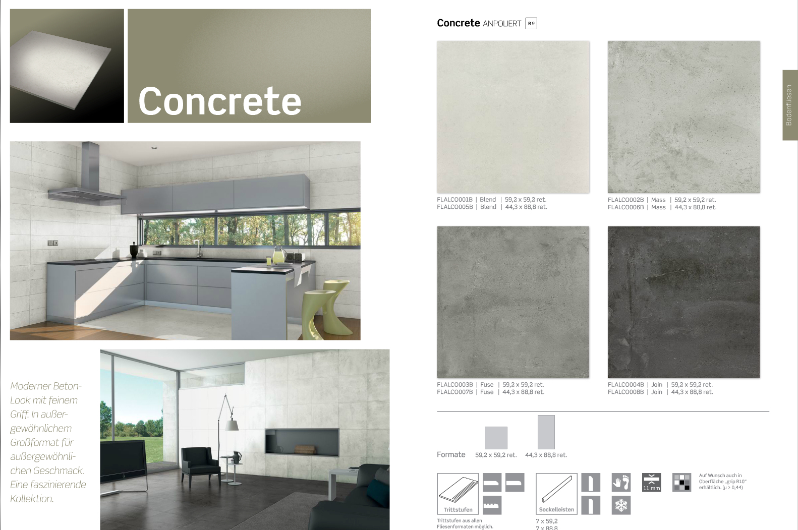 Bodenfliese Concrete