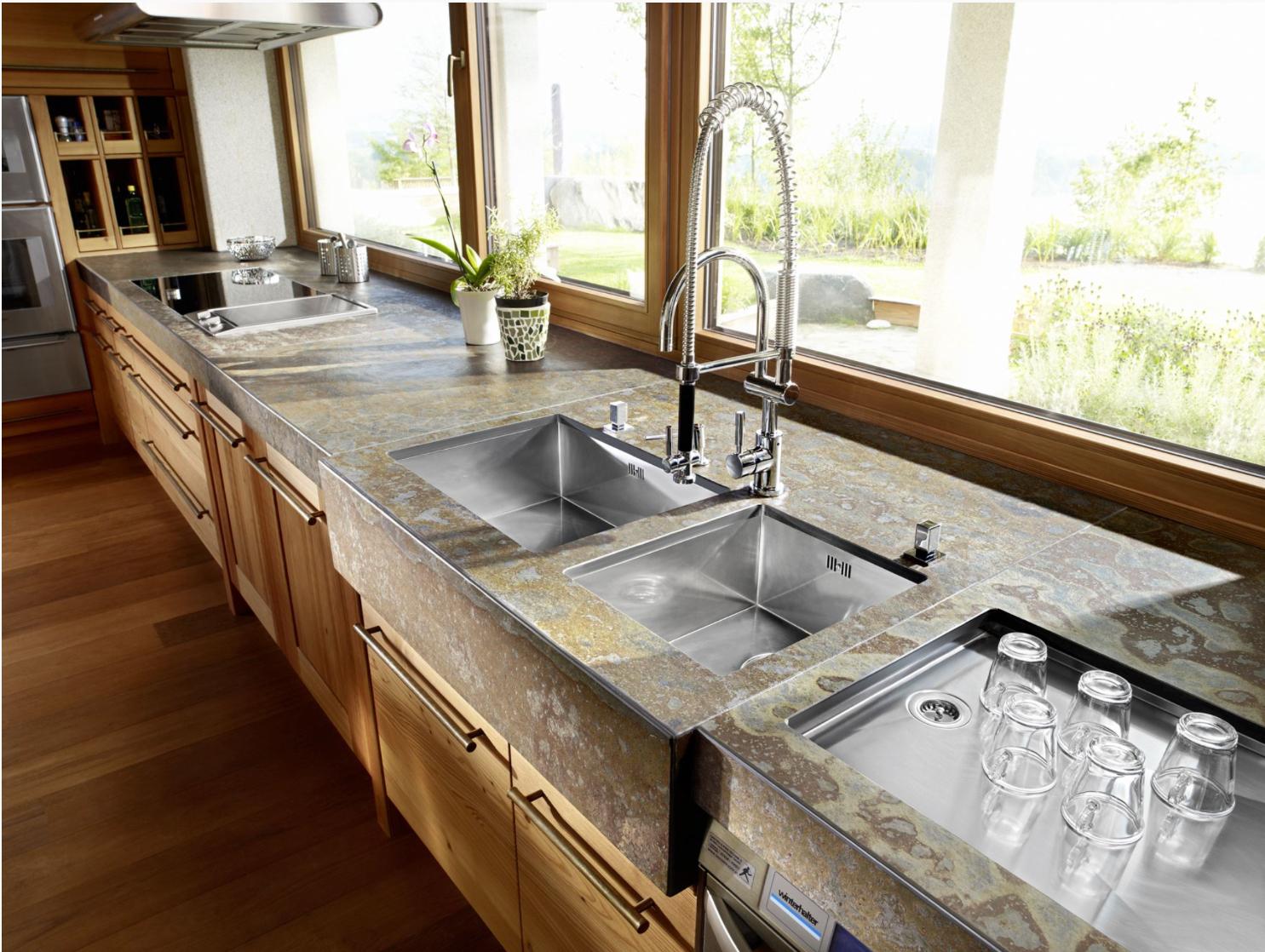 Arbeitsplatte und Küchenplatten aus Schiefer